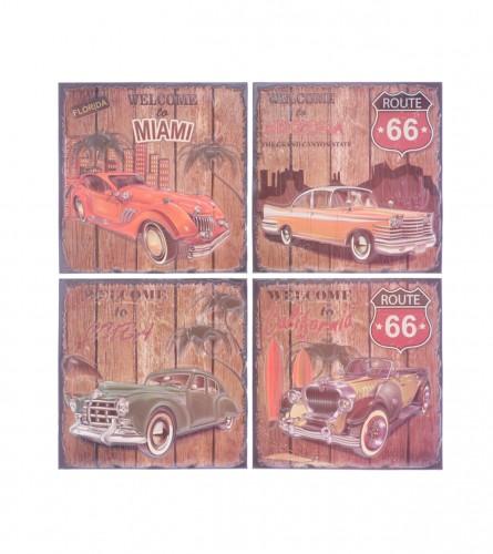 MASTER Naljepnice za zid 34x36cm dezen auta 01210098