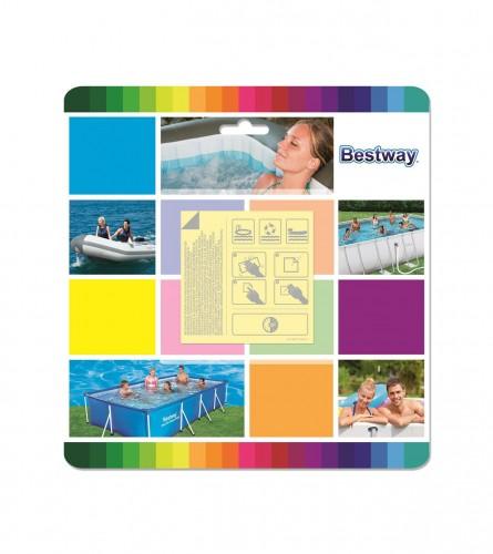 BESTWAY Zakrpe za popravku bazena 6,5x6,5cm 62091