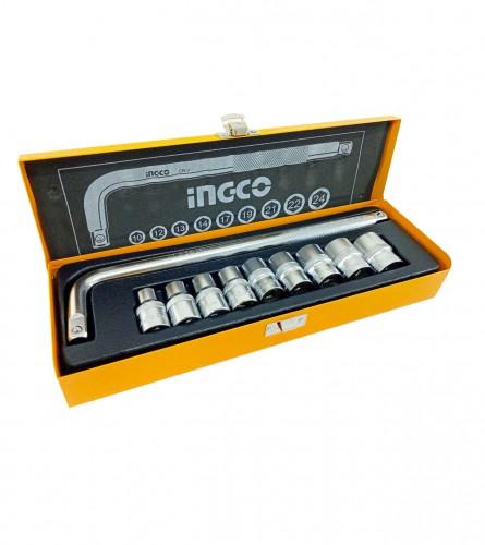 """INGCO TOOLS Gedore set 10/1 1/2"""" CR-V HKTS12101"""