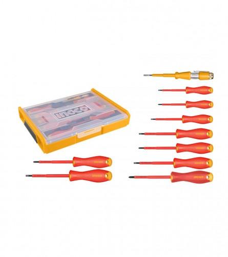 INGCO TOOLS Izvijači električarski set 10/1 sa kutijom HKTV01S101